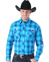 Wrangler Men's 20X Logo Western Long Sleeve Shirt, , hi-res