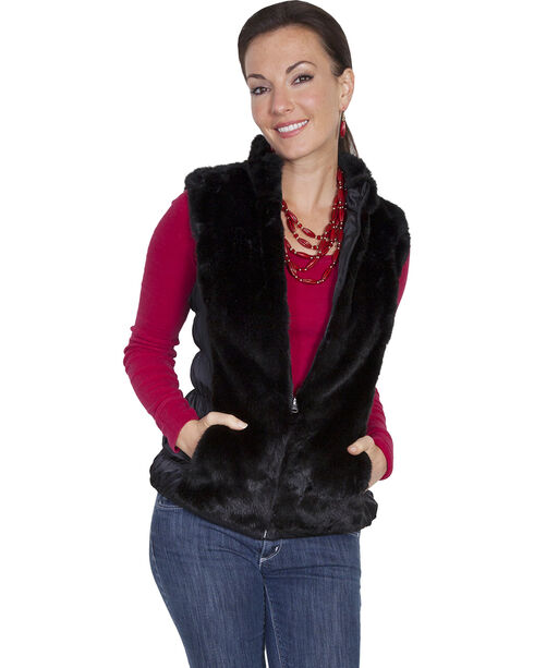 Scully Honey Creek Reversible Faux Fur Vest, Black, hi-res