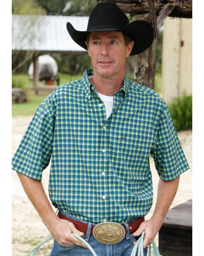 Cinch Men's Multi One Pocket Plaid Short Sleeve Shirt , Multi, hi-res