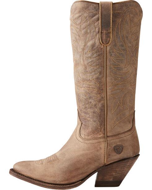 Ariat Women's Tan Shindig Weathered Boots - Medium Toe , Tan, hi-res
