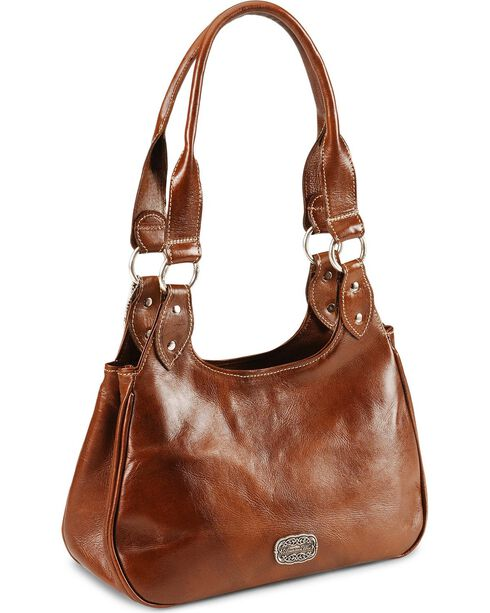 American West Women's Lady Lace Western Purse, Tan, hi-res