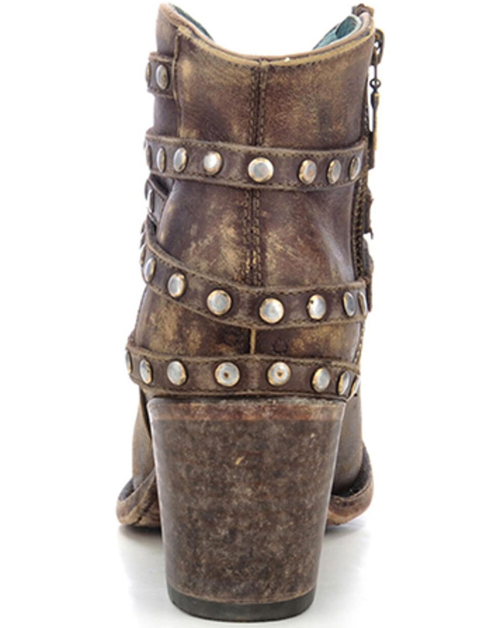 Corral Women's Studded Strap Ankle Boots, Brown, hi-res