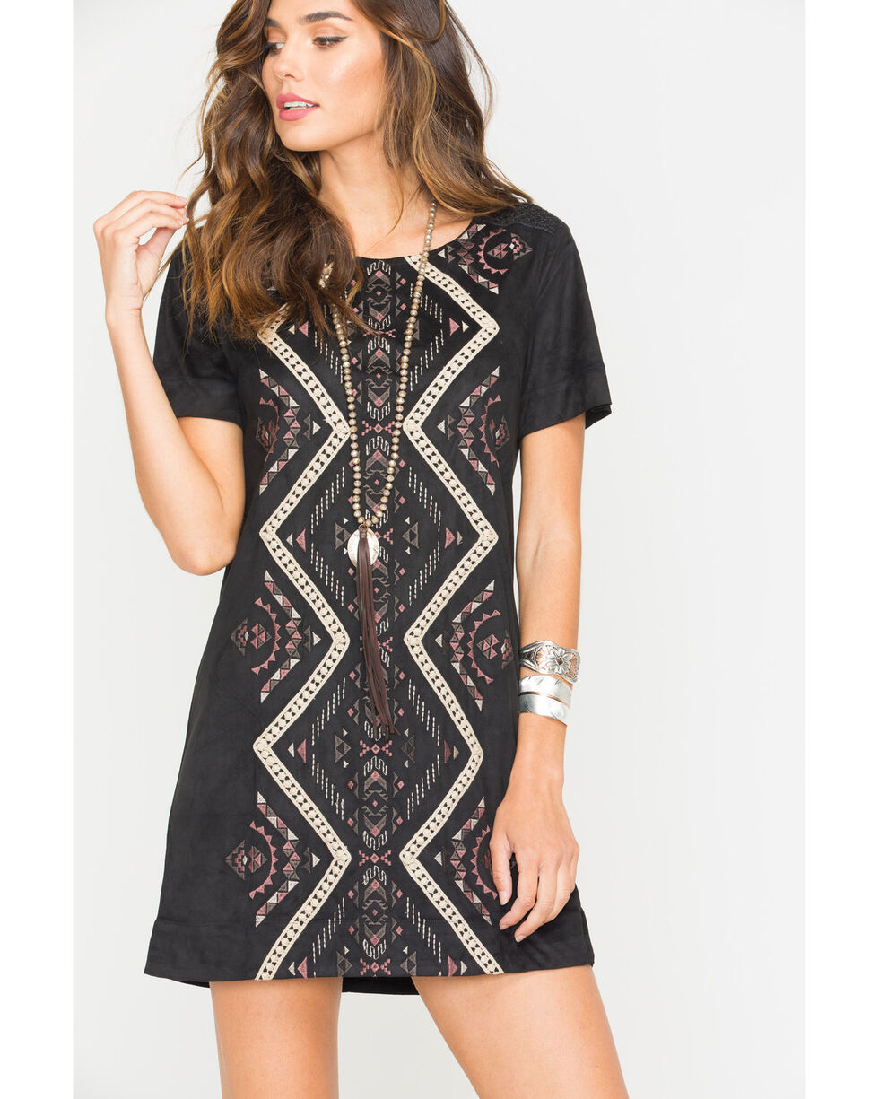 Miss Me Women's Change of Heart Dress, Black, hi-res