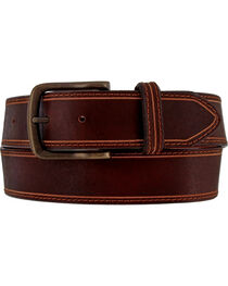 Chippewa Men's Brown Tin Spar Leather Belt , , hi-res