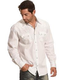 Moonshine Spirit® Men's Stripe Embroidered Long Sleeve Shirt, , hi-res