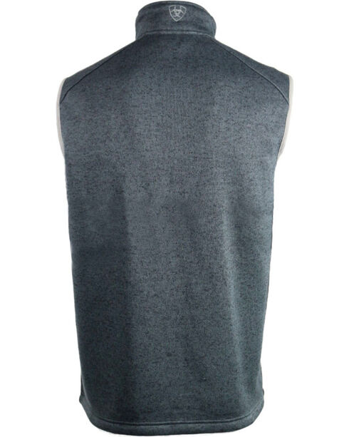 Ariat Men's Caldwell Knitted Zip Front Vest, Charcoal Grey, hi-res