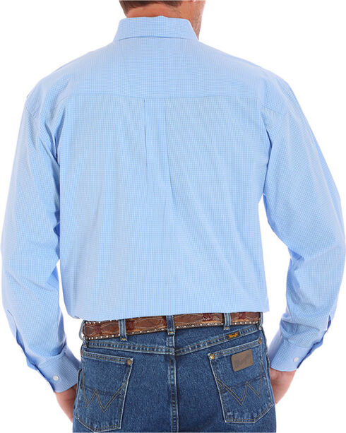 Wrangler Men's George Strait Button Down Long Sleeve Shirt, Blue, hi-res