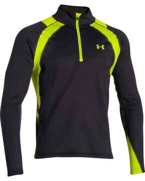 Under Armour Men's Extreme Base Scent Control Hunting Pullover, Black, hi-res