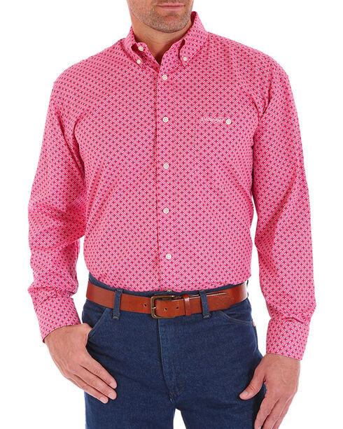 Wrangler Men's Tough Enough To Wear Pink Printed Shirt - Tall , Pink, hi-res