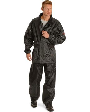 Milwaukee Unisex Unisex Motorcycle Rain Suit, Black, hi-res