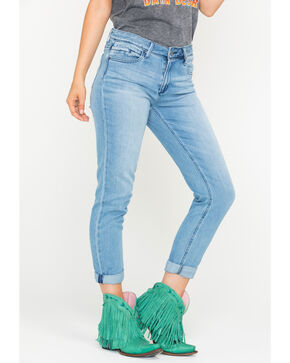 Tractr Blu Women's Indigo Girlfriend Denim Pants - Skinny , Indigo, hi-res