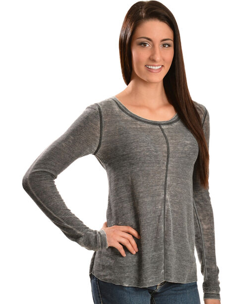 White Crow Women's Whisper Black Washed Top, Black, hi-res
