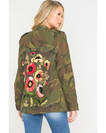 MM Vintage Women's Camo Embroidered Jacket , , hi-res