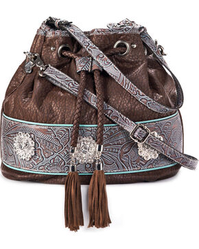 Blazin Roxx Women's Myra Bucket Tote, Brown, hi-res