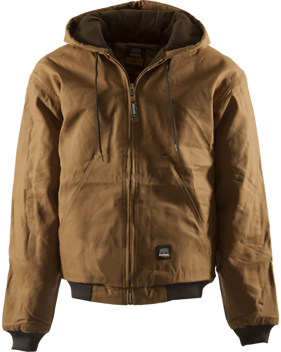 Berne Men's Original Hooded Jacket, Brown, hi-res