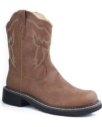 Roper Women's Chunk Riderlite 2 Western Boots, Brown, hi-res