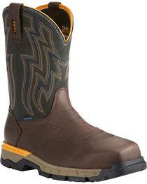 Ariat Men's Rebar Flex H2O Brown Western Work Boots - Composite Toe, , hi-res