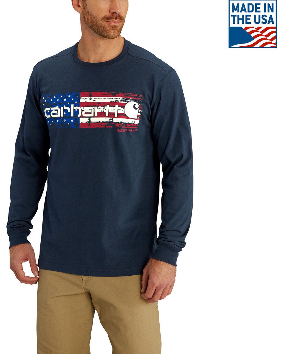 Carhartt Men's Lubbock Distressed Flag Long Sleeve T-Shirt, , hi-res