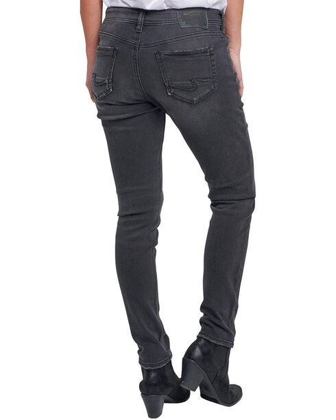 Silver Women's Kenni Color Wash Girlfriend Jeans, Black, hi-res