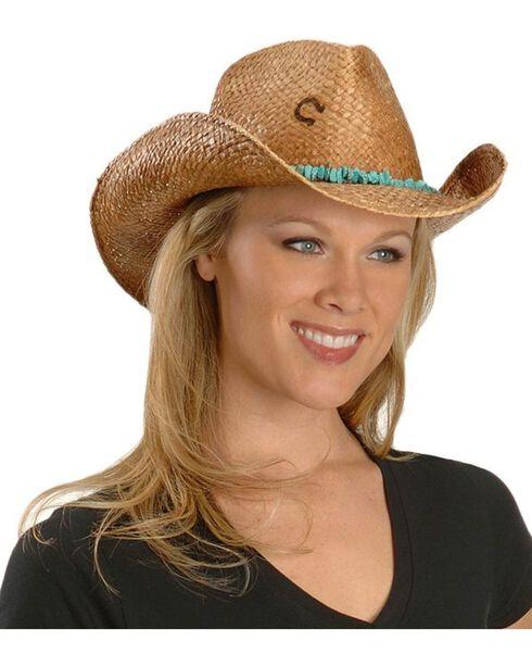 Charlie 1 Horse Tulum Straw Cowboy Hat, Tea, hi-res