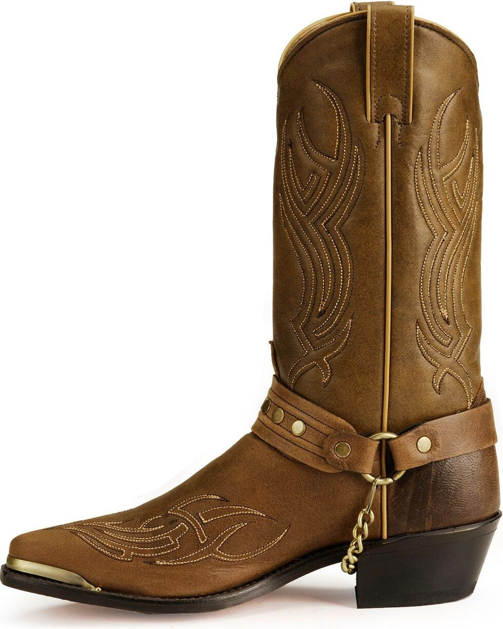 """Sage Boots by Abilene Men's 12"""" Harness Boots, Brown, hi-res"""