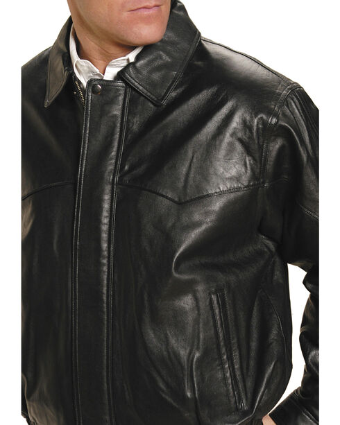 Roper Lamb Touch Nappa Bomber Jacket, Black, hi-res