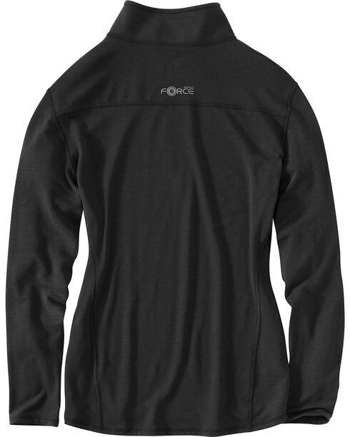 Carhartt Women's Force Performance Zip Shirt, Black, hi-res
