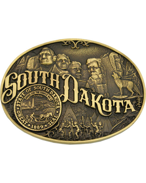 Montana Silversmiths South Dakota Belt Buckle, Gold, hi-res