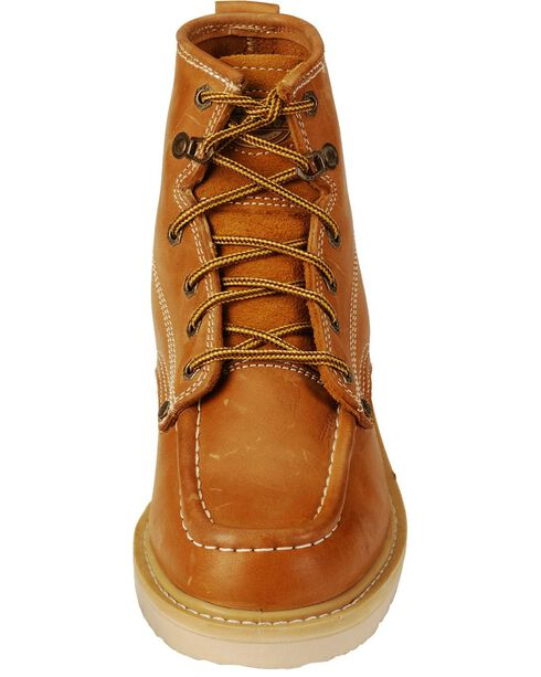 "Dickies Trader 6"" Lace-Up Work Boots - Round Toe, Tan, hi-res"