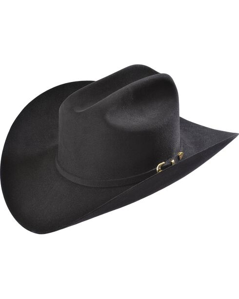 Larry Mahan Black Reno 6X Fur Felt Cowboy Hat, Black, hi-res