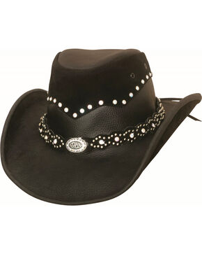 Bullhide Women's Montecarlo Back in Black Cowgirl Hat , Black, hi-res
