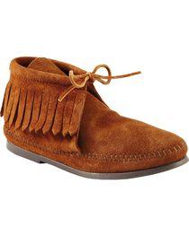 Women's Minnetonka Classic Fringe Moccasin Boots, , hi-res