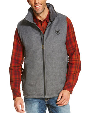 Ariat Men's Charcoal Team Vest, Charcoal, hi-res