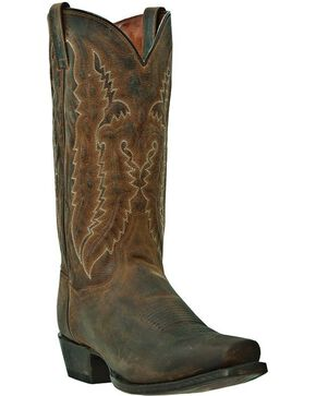 Dan Post Men's Earp Distressed Western Boots, Bay Apache, hi-res
