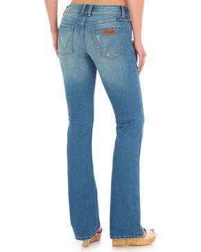 Wrangler Women's Indigo Mae Mid Rise Jeans - Boot Cut , Indigo, hi-res