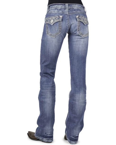 Stetson Women's Boot Cut Flap Pocket  Jeans, Denim, hi-res