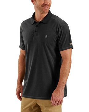 Carhartt Men's Black Force Extremes Polo, Black, hi-res