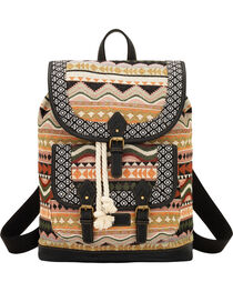 Bandana by American West Tan and Black Santa Fe Drawstring Backpack, , hi-res