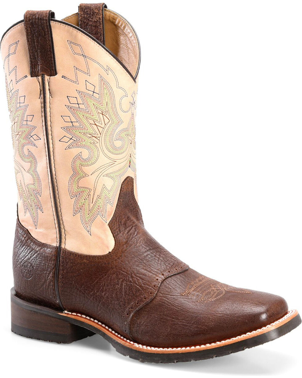 Double H Men's Teseo Wide Square Toe Western Boots, Brown, hi-res