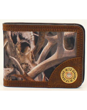 Ariat Camo Shotgun Shell Bi-Fold Money Clip, Camouflage, hi-res