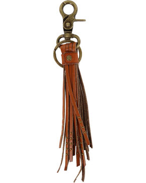 BB Ranch Tan Tassel Keychain, Tan, hi-res