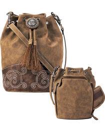 Blazin Roxx Women's Molly Conceal Carry Bucket Bag , , hi-res