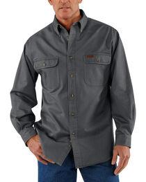 Carhartt Men's Sandstone Twill Regular Work Shirt, , hi-res