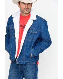 Wrangler Men's Sherpa Lined Denim Jacket, , hi-res