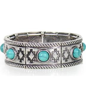 Shyanne® Women's Aztec Bracelet, Silver, hi-res