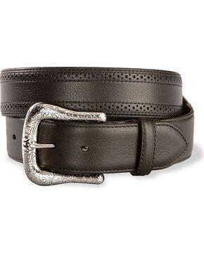 Ariat Men's Basic Perfed Edge Western Belt, Black, hi-res