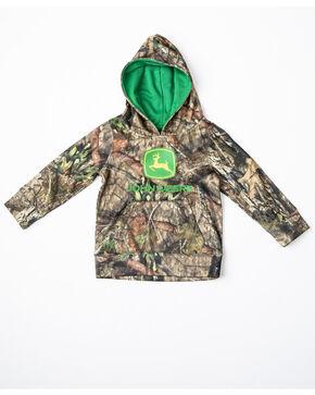 John Deere Toddler Boys' Mossy Oak Print Logo Fleece Hoodie, Camouflage, hi-res
