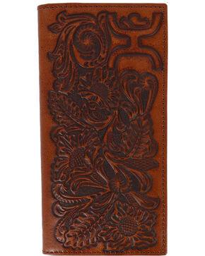 HOOey Men's Floral Rodeo Wallet, Brown, hi-res