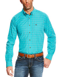 Ariat Men's Turquoise Pro Series Ashland Plaid Shirt - Tall , , hi-res