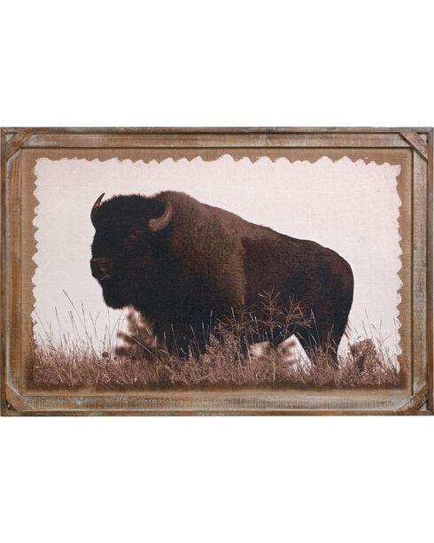 Demdaco Buffalo Barnwood Gallery Art , Brown, hi-res